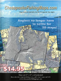 Map products designed especially for the Chesapeake Bay angler