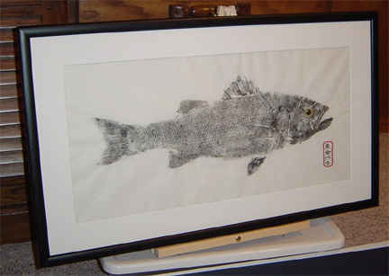 Contact Brett today to commission a Gyotaku print for yourself - Brett Swindell - 757-484-4562